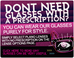 You don't need a prescription to wear our glasses